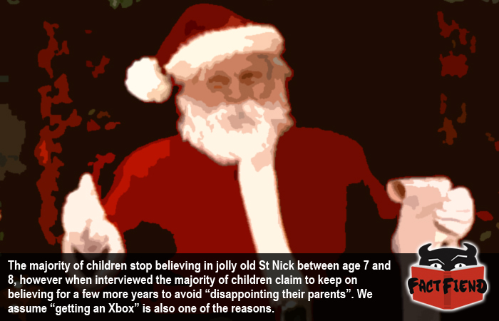 at what age do kids stop believing in santa