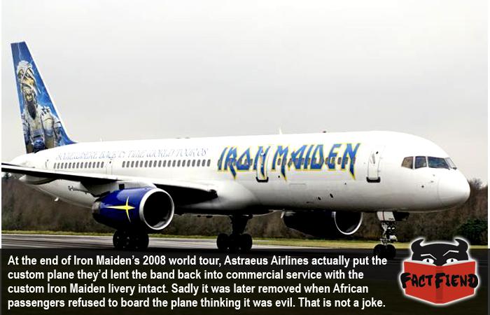 Iron Maiden's Plane Kept That Kick-ass Livery After Their World Tour