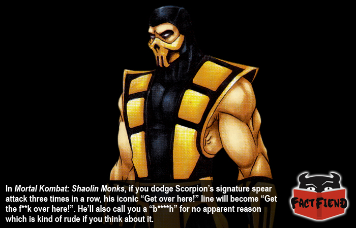 Scorpion Can Swear In Exactly One Mortal Kombat Game Fact Fiend