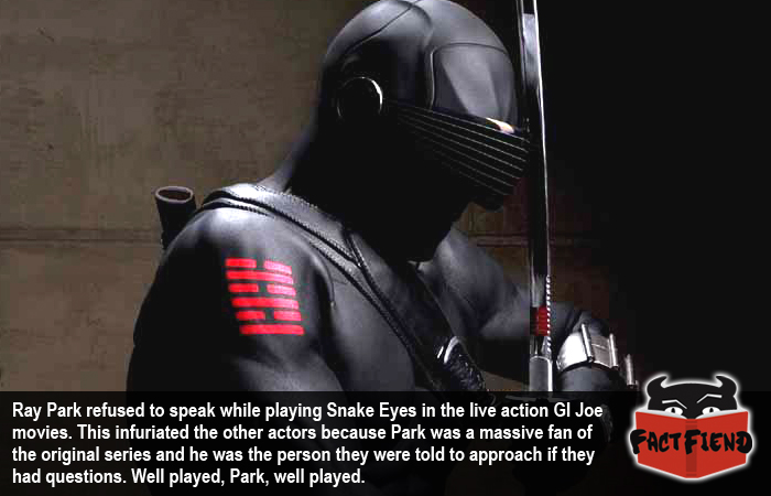 The Guy Playing Snake Eyes In The Gi Joe Movie Never Spoke To