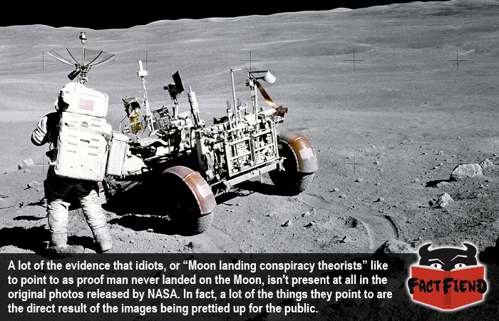 Moon Landing Hoax Theories Can All Be Debunked By The Original Photos