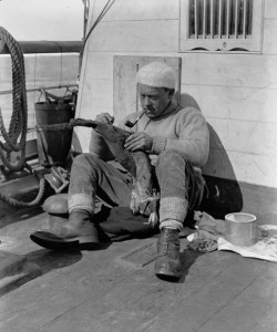 """Dear diary: Ewwwww"" ""George Murray Levick"" by Herbert Ponting - British Antarctic Expedition 1910-13 (Ponting Collection)Reference: P2005/5/911. Licensed under Public domain via Wikimedia Commons - http://commons.wikimedia.org/wiki/File:George_Murray_Levick.jpg#mediaviewer/File:George_Murray_Levick.jpg"