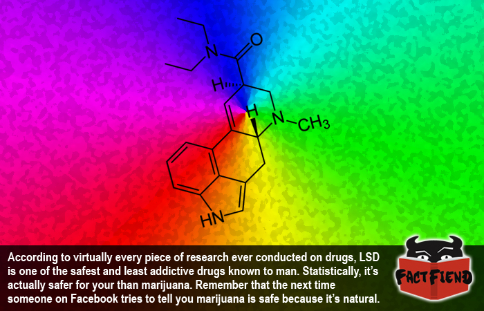 Lsd Is Statistically Safer For You Than Marijuana Fact Fiend