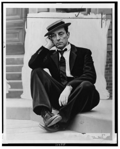 Please enjoy this picture of Buster Keaton looking like a pimp while you contemplate how far you could hurl a five-year-old.