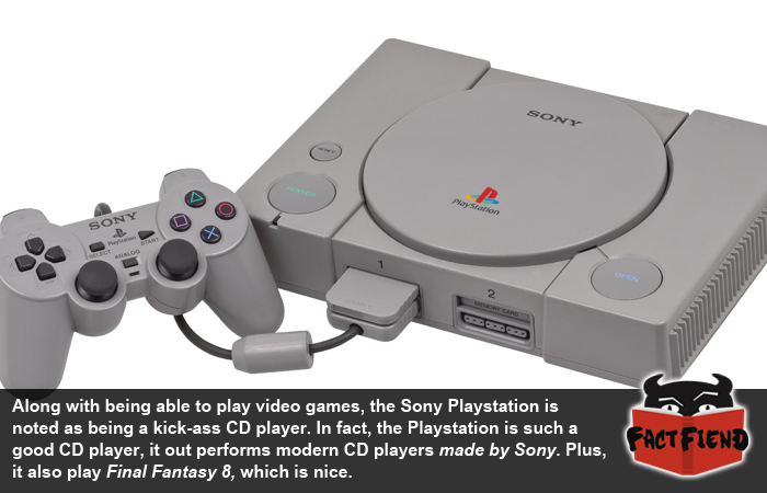 the sony ps1 is a better cd player than actual cd players fact fiend