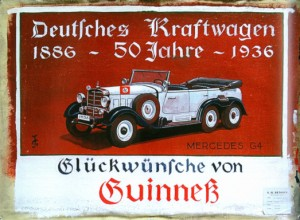 Pictured: Hitler's car being endorsed by Guinness.