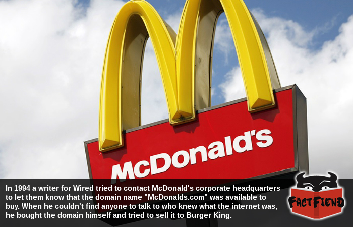 mcdonald s didn t know what the internet was in the 90 s fact fiend