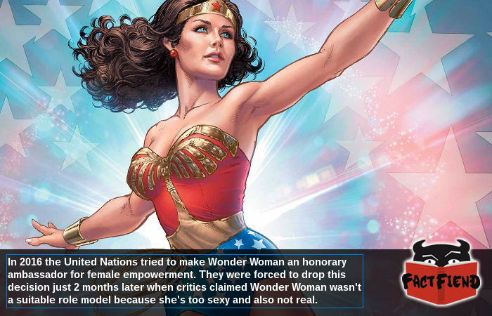 Wonder Woman Was Dropped As A Un Ambassador For Not Being Real Fact Fiend