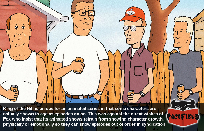 how king of the hill broke new ground by having a character age