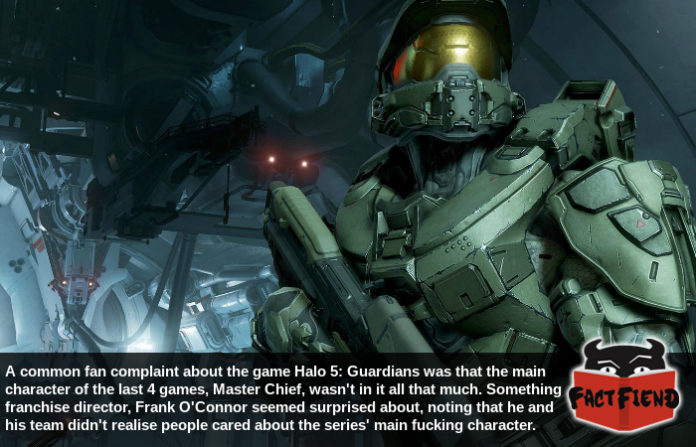 That time the people making a Halo game didn't know who the main