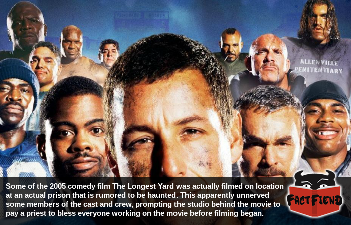 The cast of The Longest Yard thought the set was haunted