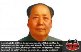 Chairman Mao Had Bright Green Teeth