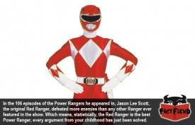 Statistically, The Red Ranger is the Best Power Ranger