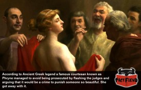 The Ancient Greek Who Flashed Her Way to Freedom